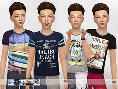 A cute t-shirt set for boys,perfect for summer time:)^^^^ Found in TSR Category 'Sims 4 Male Child Everyday'