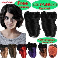 2 번들/많은 짧은 8 인치 브라질 처녀 머리 후미 봄 곱슬 머리 직조 선염 Loosewave 인간의 머리 확장 50 그램/번들