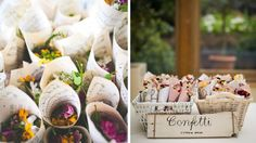 confettis fleurs mariage champêtre pour une sortie tout en douceur et fleurie
