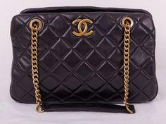 Кожаная сумка Chanel черная с двумя ручками из цепочек Шанель, Попробуйте  Еще Раз, Сумки 903fec91f57