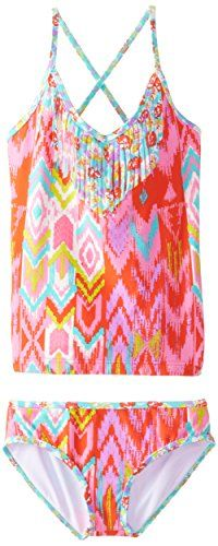 Billabong Little Girls Radiant Heartbeats Tankini Multi 6X >>> Continue to the product at the image link.