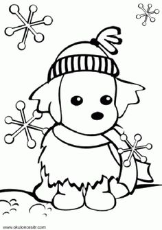 86 En Iyi Kış Mevsimi Boyama Sayfaları Winter Coloring Pages