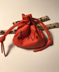 Hand drawn original drawstring pouch,Leather bag,Pouch,Leather coin pouch Orange leather bag, A Shirlb One Of A Kind Original Mens Leather Necklace, Leather Jewelry, Mens Pouch, Drawstring Pouch, Orange Leather, Brown Bags, Pouch Bag, Leather Pouch, Leather Accessories