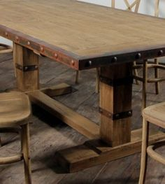industrial trestle table - Google Search