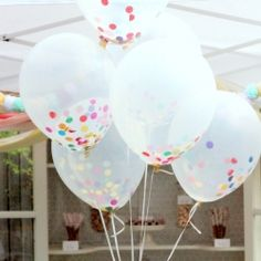 The perfect addition to any soiree- these confetti filled balloons are the picture of 'festive!' Tutorial included.