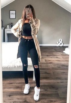 Visit our site for more Dress, Jeans and Outfits Ideas for You Cute Comfy Outfits, Teen Fashion Outfits, Cute Casual Outfits, Simple Outfits, Look Fashion, Pretty Outfits, Stylish Outfits, Fall Outfits, Mode Bcbg