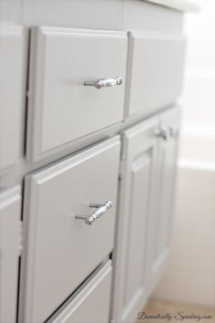 Painting Bathroom Cabinets Gray how to paint bathroom cabinets - withheart. benjamin moore advance
