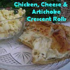 Chicken, Cheese, and Artichoke Crescents Recipe