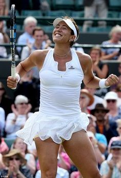 Muguruza proved once again why she is one of the brightest young prospects in women's tennis right now as she sailed into the Wimbledon semi-final with a victory over Bacsinszky Wta Tennis, Wimbledon Tennis, Sport Tennis, Wimbledon 2015, Tennis Live, French Open, Tennis Shop, Foto Sport, Tennis World