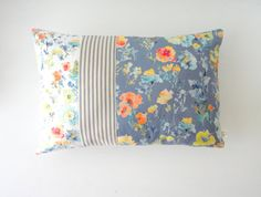 NEW French Striped Lumbar Pillow Cover by pineapplebaystudio