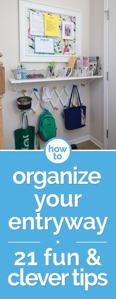 How to Organize Your Entryway: 21 Fun & Clever Tips | thegoodstuff