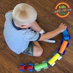Get creative and use what you already have at home! Make these toilet paper crafts for kids. 20 toilet paper roll crafts that are so fun to make. Cardboard Train, Paper Train, Cardboard Art, Fun Easy Crafts, Paper Crafts For Kids, Craft Kids, Paper Towel Roll Crafts, Toilet Paper Roll Crafts, Train Crafts