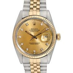 Rolex Watches Men's Rolex Two-tone Datejust with Factory Diamonds... (€4.755) ❤ liked on Polyvore featuring men's fashion, men's jewelry, men's watches, gold, vintage mens watches, rolex mens watches, mens wide band watches and mens gold diamond watches Please Comment, Like, or Re-Pin for later 😍💞 gold rolex watch, gold rolex daytona, gold rolex watches men, gold rolex submariner, white gold rolex, gold rolex day date Gold Diamond Watches, Gold Rolex, Men's Rolex, Rolex Watches For Men, Vintage Watches For Men, Men's Watches, Gold And Diamond Source, Oyster Perpetual Datejust, Rolex Day Date