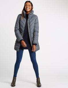 Funnel Neck Padded Jacket with Stormwear™