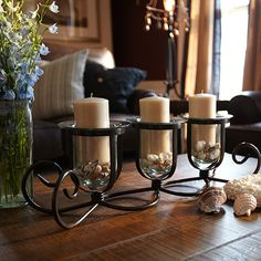 3 Tier Iron Candle Holder