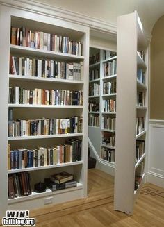 I would love to have a secret room just to house more books.