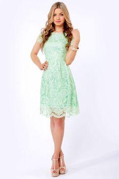 Vintage Lace Knee Length Mint Short Modest Bridesmaid Dresses With ...