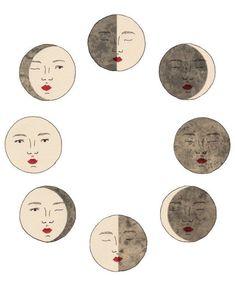 Moon Phases Art