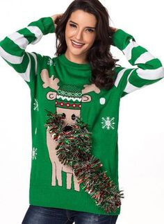 Manga Larga Festival Christmas Santa Fair Isle Reno Ojos Pullover Suéter Sweater Jersey Top Verde Blanco M Ugly Christmas Sweater Women, Christmas Sweaters For Women, Holiday Sweaters, Winter Coats Women, Coats For Women, Reindeer Ugly Sweater, Jumpers For Women, Womens Jumpers, Women's Coats