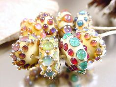 Handmade lampwork glass beads Artisan glass by AvasBeadGarden, $48.00