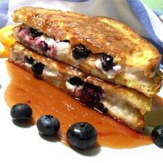 Easy Blueberries And Cream French Toast Sandwich with Orange Maple Syrup - Allrecipes.com
