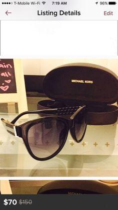 Women's Michael Kors Black Sunglasses