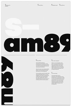 S—am89 Poster by MARIN DSGN, via Flickr