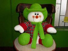Resultado de imagen para muñecos osos navideños Christmas Clay, Christmas Snowman, Christmas Crafts, Christmas Ornaments, Snowman Crafts, Fun Crafts, Diy And Crafts, Country Christmas Decorations, Holiday Decor