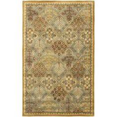 Safavieh Handmade Tree of Life Slate Blue Wool Rug (4' x 6')