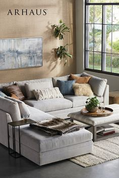 Home Living Room, Living Room Furniture, Living Room Designs, Living Room Decor, Living Spaces, Fall Home Decor, Dream Rooms, Room Decor Bedroom, Home Remodeling