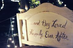 """and they loved happily ever after"""