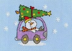Dashing Through The Snow Counted Cross Stitch Kit Bothy Threads