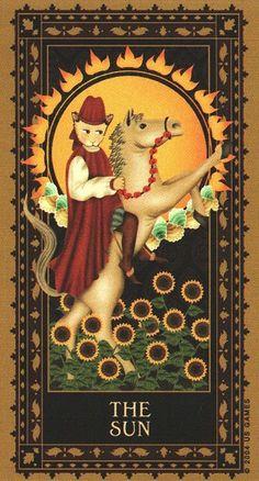 Tarot des chats médiévaux - Le Soleil