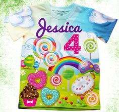 Personalized candy and sweets T-shirt cupcake birthday party