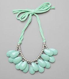 Double Strand Acrylic teardrop bib necklace...