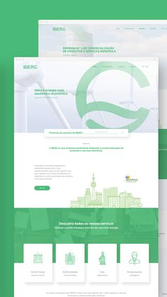 Website developed for a Partner of Iberdrola - Green Energy. Modern Web Design, Web Design Tips, Web Design Inspiration, Page Design, Layout Design, Energy Saving Tips, Save Energy, Renewable Energy, Solar Energy