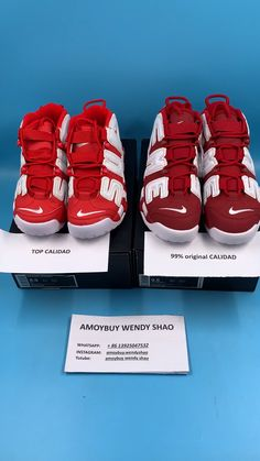 0bd8b0f026e51 Cómo comprobar diferentes entre 99% de calidad original Nike AIR MORE  UPTEMPO y Top