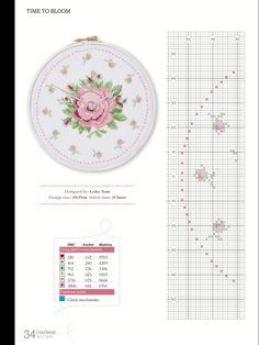 Kanaviçe Şemaları: Kanaviçe Saat Modeli
