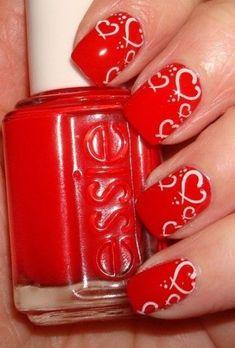 Uñas Decoradas para el Día de San Valentín 14