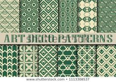 Find Vintage Ornamental Seamless Patterns Set Art stock images in HD and millions of other royalty-free stock photos, illustrations and vectors in the Shutterstock collection. Moda Art Deco, Art Deco Fashion, Vintage Patterns, New Pictures, Digital Illustration, Royalty Free Stock Photos, Abstract, Illustrations, Vintage Art