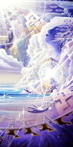 """Evolution V: There Are No Loose Ends - 2008 Acrylic/Canvas 32"""" x 16"""" Michael Divine"""