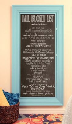 Fall Bucket List Chalkboard + Printable