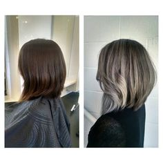 From long (past her shoulders) to a Lob to Silver Ombre! Cut & Color by Glad - Yelp