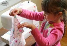Tiny Sewists: Teaching Kids to Sew :: Lesson 5   A Jennuine LifeA Jennuine Life