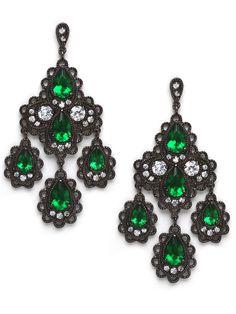 Emerald Cascades - Earrings - Categories - Shop Jewelry | BaubleBar