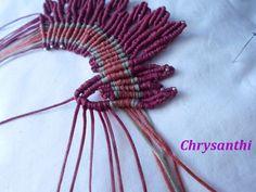 ΕΝΑ ΙΔΙΑΙΤΕΡΟ ΣΧΕΔΙΟ   kentise Macrame Thread, Macrame Bag, Macrame Necklace, Macrame Knots, Macrame Bracelets, Loom Bracelets, Chevron Friendship Bracelets, Friendship Bracelets Tutorial, Magic Knot