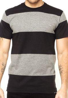 9c8c049d7 Camiseta Quiksilver Faixas Preta