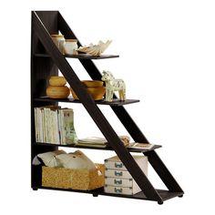 Perfect for under stair storage - Wholesale Interiors Baxton Studio Psinta Modern Shelving Unit | Wayfair