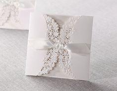 50 Lace personalizado Laser Cut Convites de casamento conjunto exclusivo