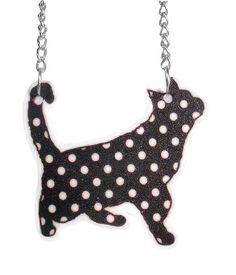 shrink plastic cat necklace